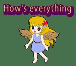 Small Angel(English) sticker #14411790