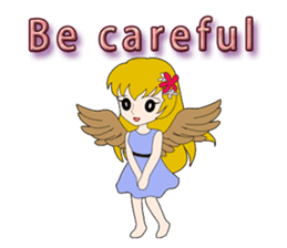 Small Angel(English) sticker #14411809