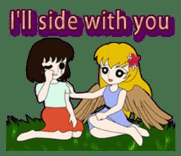 Small Angel(English) sticker #14411812