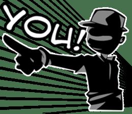 Only Shadow Man sticker #14413534