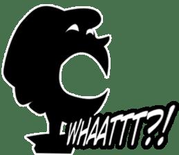 Only Shadow Man sticker #14413536