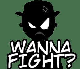 Only Shadow Man sticker #14413552