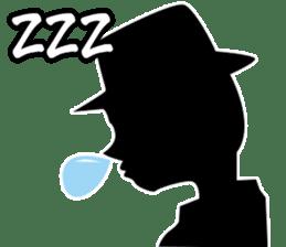 Only Shadow Man sticker #14413556