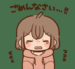 Sticker obediently tell~girl~ sticker #14419105