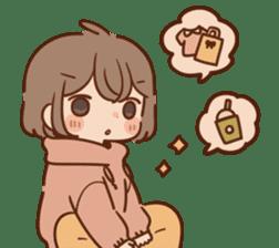 Sticker obediently tell~girl~ sticker #14419109