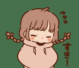 Sticker obediently tell~girl~ sticker #14419110