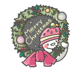 Merry Christmas_cute mochi ghost (4) sticker #14420070