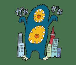 Strange creatures Sticker Cute monster sticker #14424028