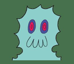 Strange creatures Sticker Cute monster sticker #14424033