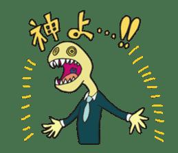 Strange creatures Sticker Cute monster sticker #14424034