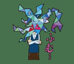 Strange creatures Sticker Cute monster sticker #14424041