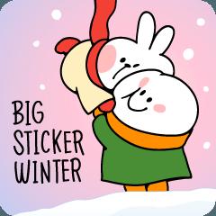 สติ๊กเกอร์ไลน์ Spoiled Rabbit Big Sticker Winter