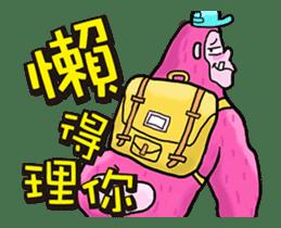 Pink Orangutan! Big Teeth King Kong! sticker #14447051