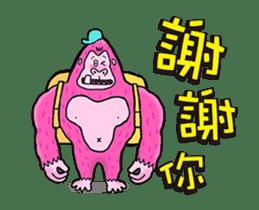 Pink Orangutan! Big Teeth King Kong! sticker #14447062