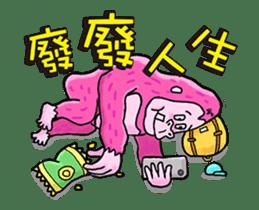 Pink Orangutan! Big Teeth King Kong! sticker #14447068