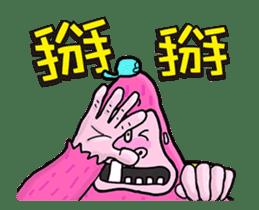 Pink Orangutan! Big Teeth King Kong! sticker #14447069