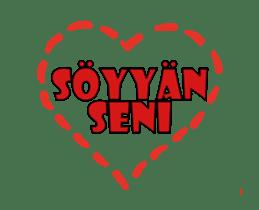 Speech Bublle Turkmen sticker #14451229