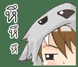Boy little wolf sticker #14453321