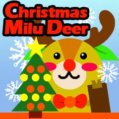 Christmas Milu Deer