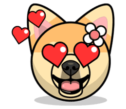 Puppy Love Stickers - Pom Emoji Meme sticker #14487209