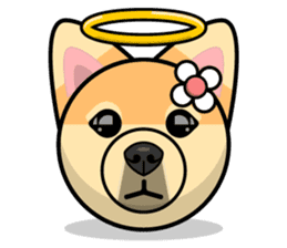 Puppy Love Stickers - Pom Emoji Meme sticker #14487227