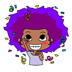 Afro girl emoji