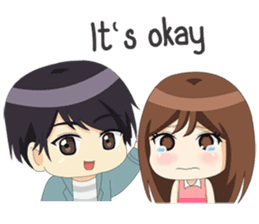 Happy Chibi Couple sticker #14529420