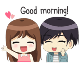 Happy Chibi Couple sticker #14529422