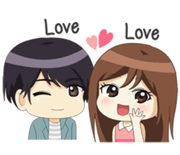 Happy Chibi Couple sticker #14529423