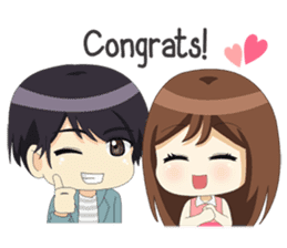 Happy Chibi Couple sticker #14529424