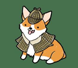 Detective Corgi sticker #14537574