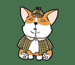 Detective Corgi sticker #14537582