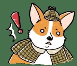 Detective Corgi sticker #14537584