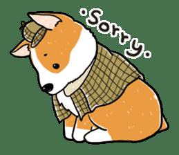 Detective Corgi sticker #14537587