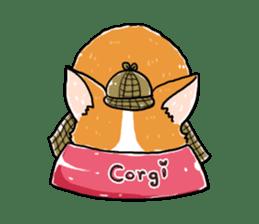 Detective Corgi sticker #14537597
