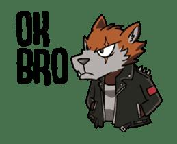 Rock n Roll Wolf (English) sticker #14550446