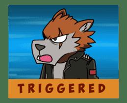 Rock n Roll Wolf (English) sticker #14550451