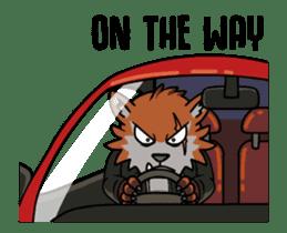 Rock n Roll Wolf (English) sticker #14550456