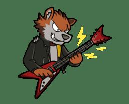 Rock n Roll Wolf (English) sticker #14550465