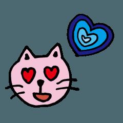 สติ๊กเกอร์ไลน์ Lovely dog and cat