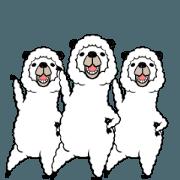สติ๊กเกอร์ไลน์ smiling alpaca...