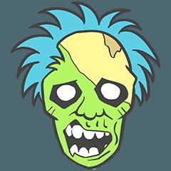 pop zombie Sticker