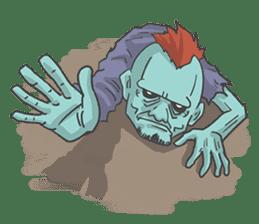 pop zombie Sticker sticker #14574718