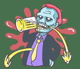 pop zombie Sticker sticker #14574722