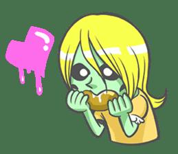 pop zombie Sticker sticker #14574727