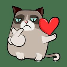 Cute Grumpy Cat sticker #14583681