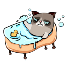 Cute Grumpy Cat sticker #14583691