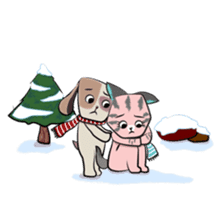 Bubu and Charley Winter Adventures sticker #14583928