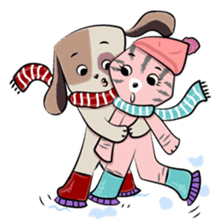 Bubu and Charley Winter Adventures sticker #14583931