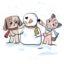 Bubu and Charley Winter Adventures sticker #14583942